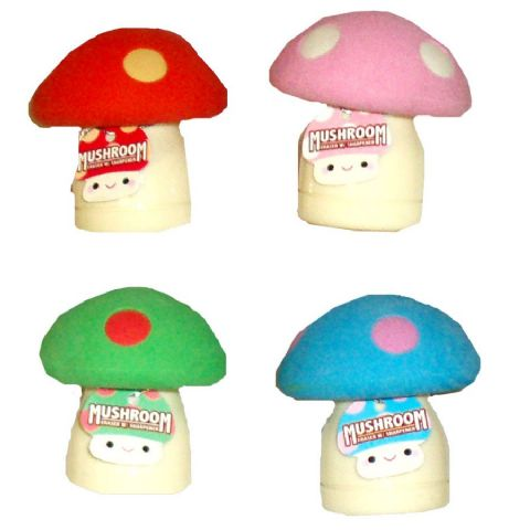 Mushroom Erasers & Pencil Sharpener - Assorted Colours (1 Supplied)
